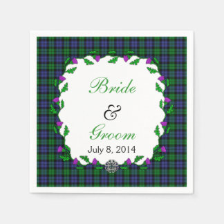 Black Watch Military Celtic Wedding Favor Paper Napkin