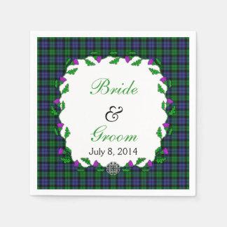 Black Watch Military Celtic Wedding Favor Paper Napkin