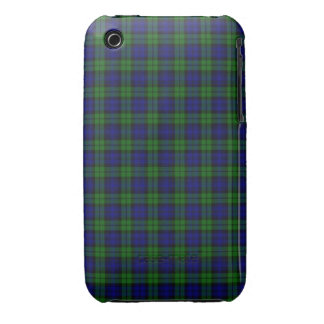 Black Watch or Campbell Tartan Plaid Pattern iPhone 3 Cover