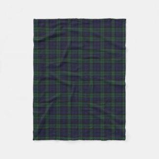 Black Watch Plaid Fleece Blanket