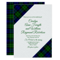 Black Watch Plaid Wedding Invitation