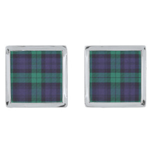 Gordon Dress Traditional Tartan Circular Cufflinks Made In Scotland