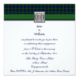 Black Watch Tartan Engagement Party Invitation