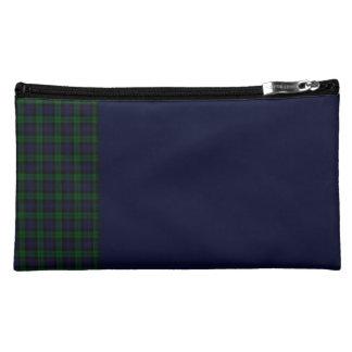 Black Watch Tartan Panel Cosmetic Bag