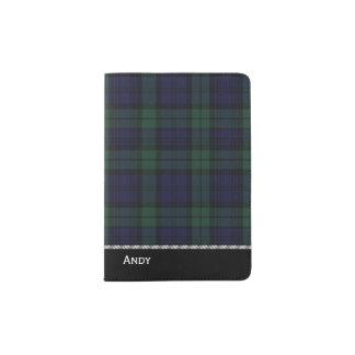 Black Watch Tartan Plaid Custom Passport Holder