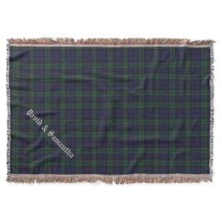 Black Watch Tartan Plaid Custom Throw Blanket