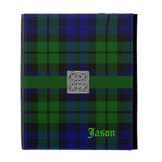 Black Watch Tartan Plaid iPad Case