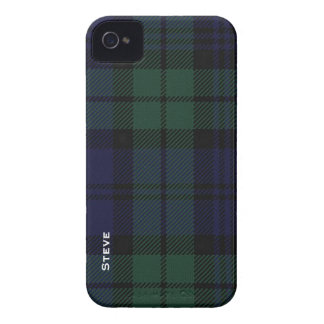 Black Watch Tartan Plaid iPhone 4 Case