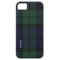 Black Watch Tartan Plaid iPhone SE/5/5s Case