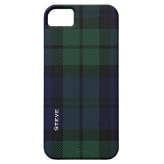 Black Watch Tartan Plaid iPhone SE/5/5s Case