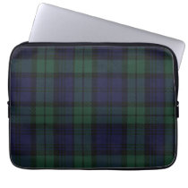 Black Watch Tartan Plaid Laptop Cover