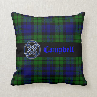 Black Watch Tartan Plaid Pillow