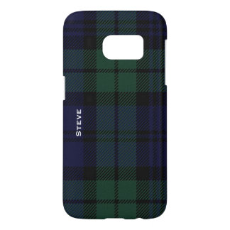 Black Watch Tartan Plaid Samsung Galaxy S7 Case
