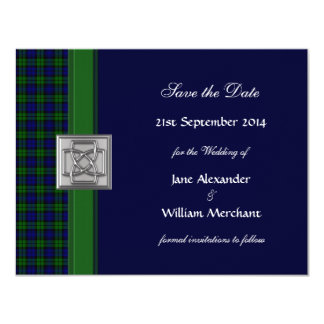 Black Watch Tartan Save the Date Announcement