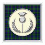 Black Watch Tartan Save the Date with Thistle Personalized Announcements