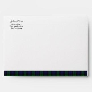 Black Watch Tartan Scottish A-7 Envelope