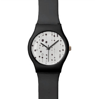Black watch with black dots
