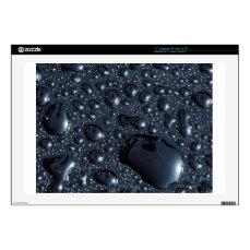 Black water drops skin for laptop