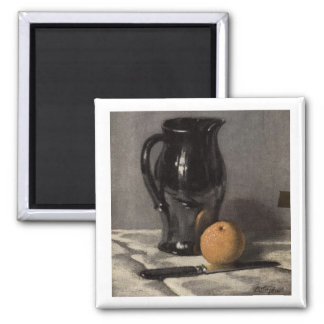 Black Water Pitcher 2 Inch Square Magnet