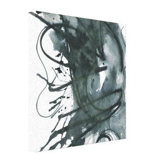 Black Watercolor Ink Canvas Print