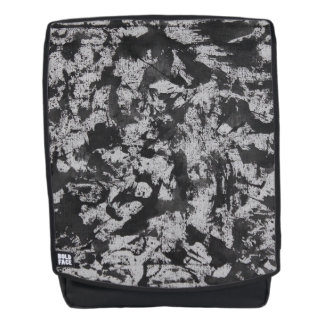 Black Watercolor on White Backpack