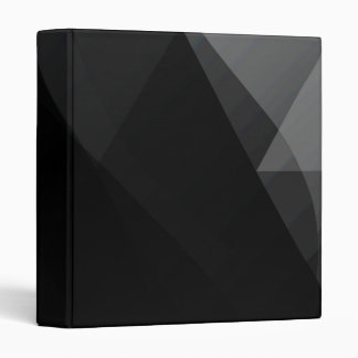 Black Wave Abstract - All Sizes 3 Ring Binder