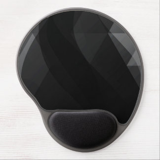 Black Wave Abstract Gel Mouse Pad