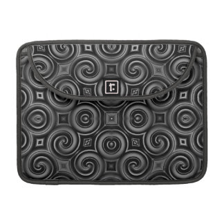 Black Waves Big Sleeves For MacBook Pro