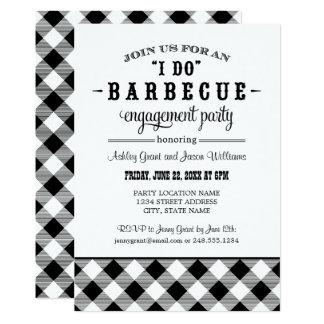 Black Wedding Engagement Party | I Do BBQ Card