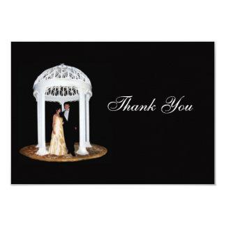 """Black Wedding formal thank you card 3.5"""" X 5"""" Invitation Card"""