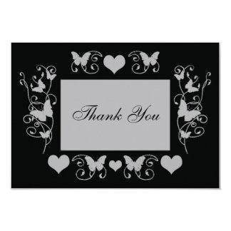 "Black Wedding fun thank you card 3.5"" X 5"" Invitation Card"