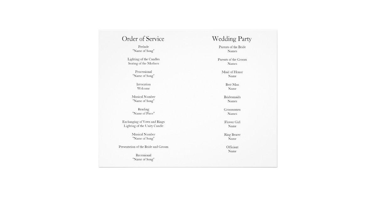 Black Wedding Order Of Service 66