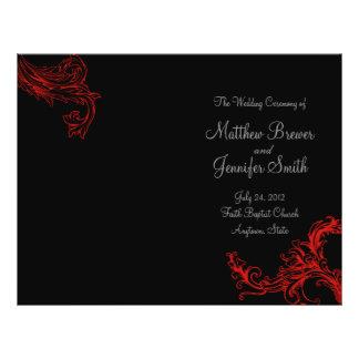 Black Wedding Order of Service & Ceremony Program Flyer