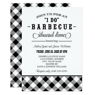 Black Wedding Rehearsal Dinner | I Do BBQ Invitation