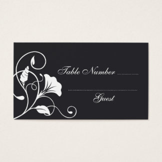 Black Wedding Table Assignment Place Cards