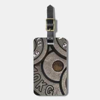 Black Weight Plates - Weightlifting Print Bag Tag