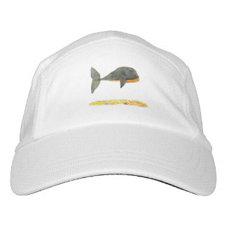 Black Whale Childish Watercolor Painting Hat