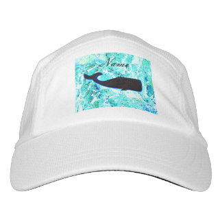 black whale swimming hat