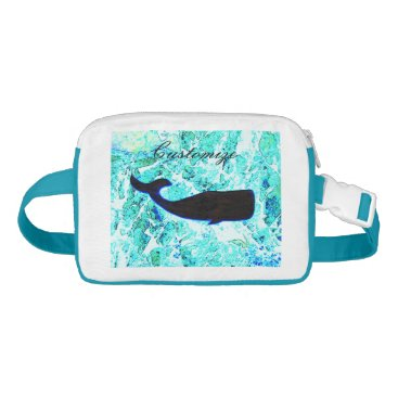 Beach Themed black whale underwater waist bag