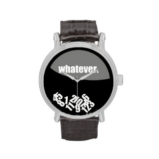 Black Whatever Messy Numbers Wrist Watches