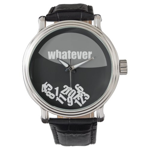 Black Whatever Messy Numbers Wristwatch