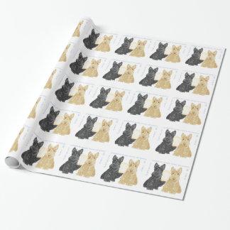 Black & Wheaten Goodnight Scotties Wrapping Paper