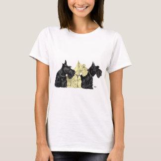 Black & Wheaten Scottish Terriers T-Shirt