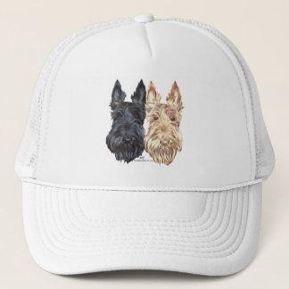 Black & Wheaten Scottish Terriers Trucker Hat