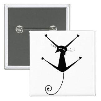 Black Whimsy Kitty 10 Pin