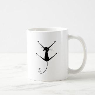 Black Whimsy Kitty 10 Coffee Mugs