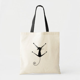 Black Whimsy Kitty 10 Tote Bag