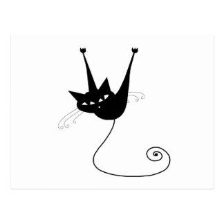 Black Whimsy Kitty 1 Postcard
