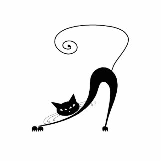 Black Whimsy Kitty 2 Photo Sculpture