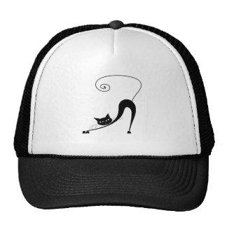 Black Whimsy Kitty 2 Trucker Hat